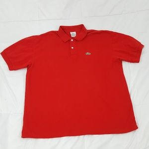 Lacoste Polo Shirt Mens XL (8) Red
